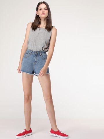 ג'ינס קצר כיס ניטים