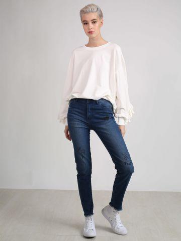 ג'ינס סקיני עם איורים