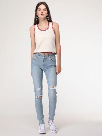721 ג'ינס סקיני עם קרעים