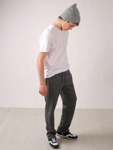 מכנסי פוטר גזרה ישרה