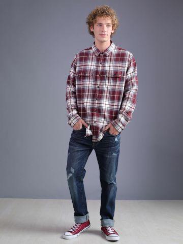 מכנסי ג'ינס בגזרה ישרה