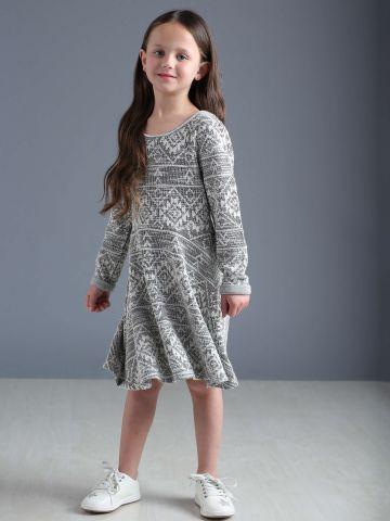 שמלה בהדפס אצטקי