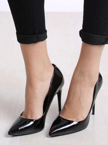 נעלי עקב סטילטו לכה