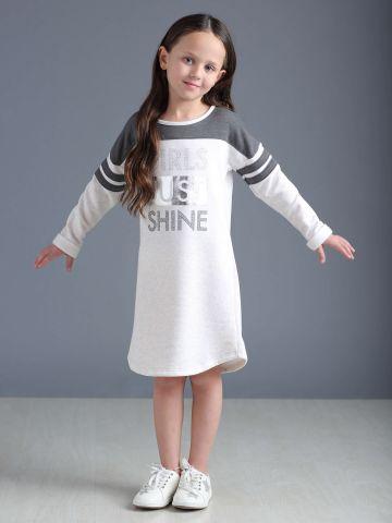 שמלת סווטשירט עם הדפס