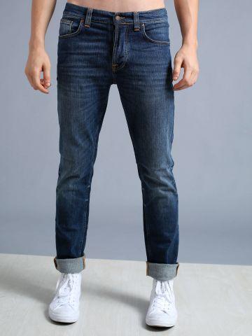 מכנסי ג'ינס גזרה ישרה Grim Tim
