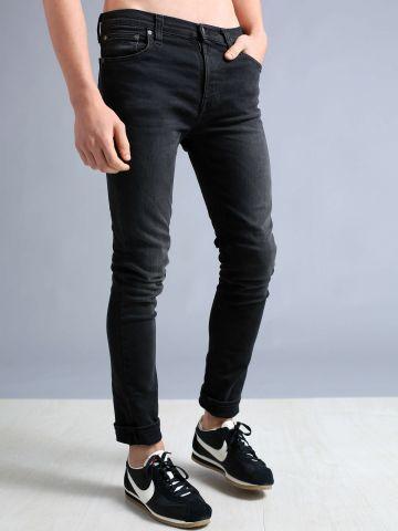 סקיני ג'ינס עם שטיפה בהירה High Kai