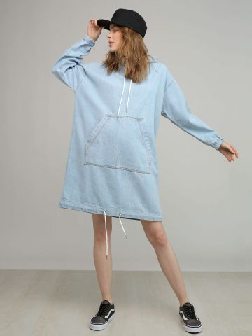 שמלת סווטשירט ג'ינס