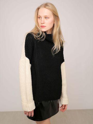 סוודר בשני צבעים