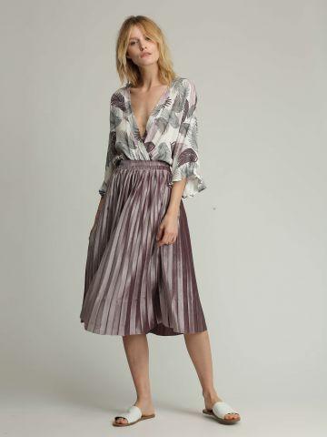 חצאית פליסה מידי מבד קטיפה