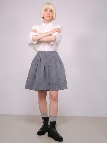 חצאית דמוי זמש