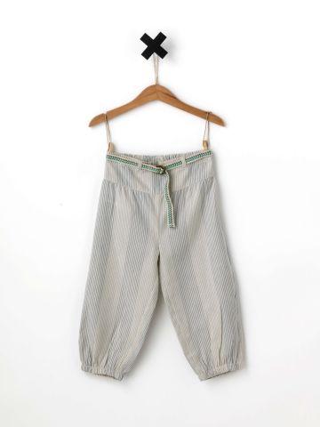 מכנסי בגי בהדפס פסים