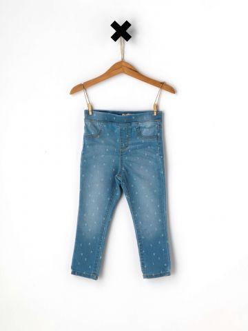 ג'ינס סקיני בהדפס מספרים