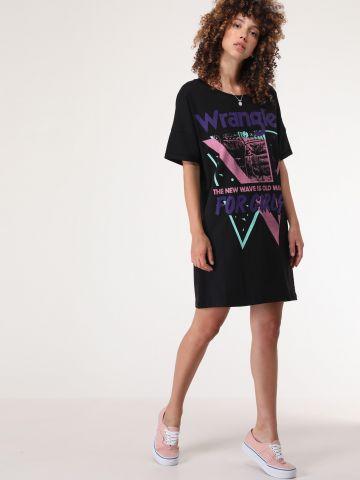 שמלת טי שירט עם הדפס צבעוני For Girls