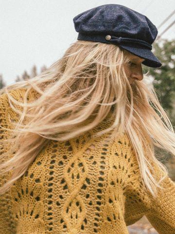 כובע בארט בעיטור חבל Brixton