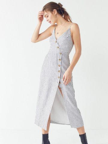 שמלת פשתן מידי UO