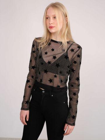 חולצת לורקס שקופה עם כוכבים