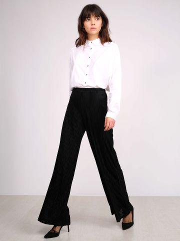 מכנסיים רחבים מקטיפה