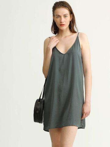 שמלת מיני סאטן חלקה