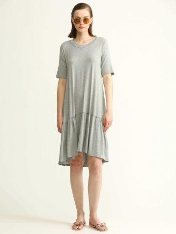 שמלת אוברסייז עם פפלום
