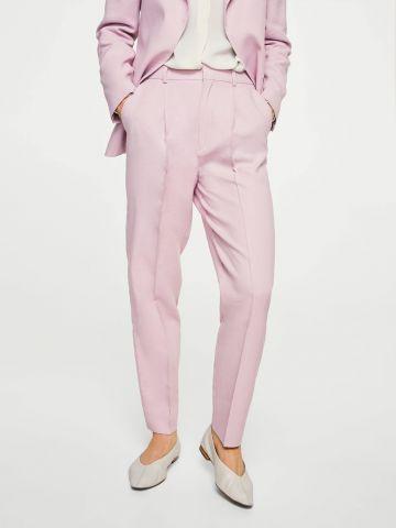 מכנסיים מחוייטים בגזרה ישרה