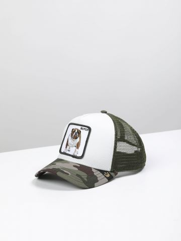 כובע מצחייה קמופלאז' עם פאץ' בולדוג