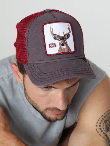 כובע מצחייה עם פאץ' צבי