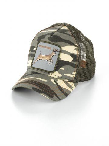 כובע מצחייה קמופלאז' עם פאץ' צבי