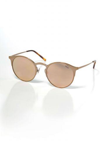 משקפי שמש עגולים מסגרת זהב