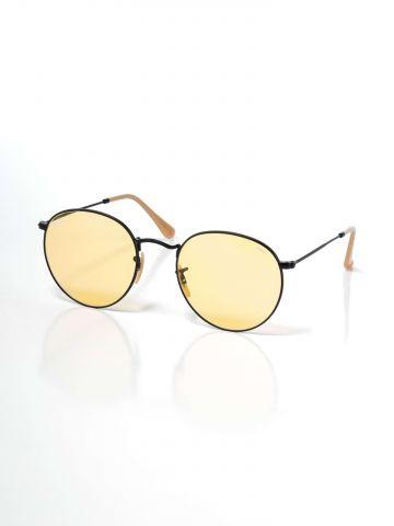 משקפי שמש עגולים עם עדשה צבעונית