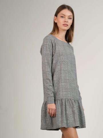 שמלת פפלום משבצות