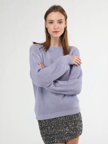 סוודר צמות דק