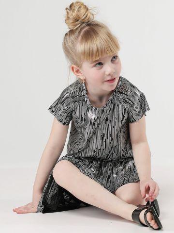שמלת פפלום בגוון מטאלי