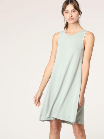 שמלת גופייה מיני חלקה