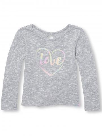 חולצת ווש עם הדפס Love