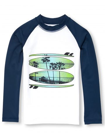 חולצת גלישה בייסבול עם הדפס גלשנים