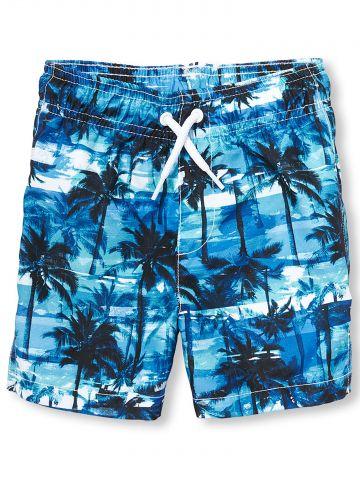 מכנסי בגד ים קצרים בהדפס דקלים / בייבי בנים - בנים
