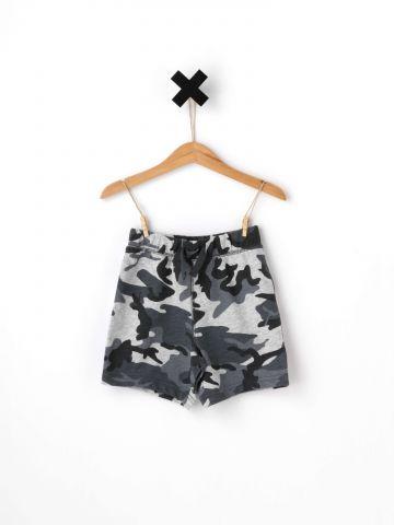 מכנסיים קצרים בהדפס צבאי