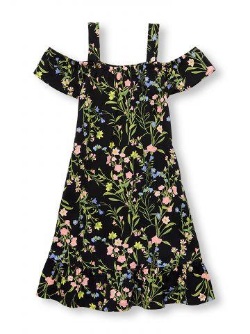 שמלת אוף שולדרס בהדפס פרחוני