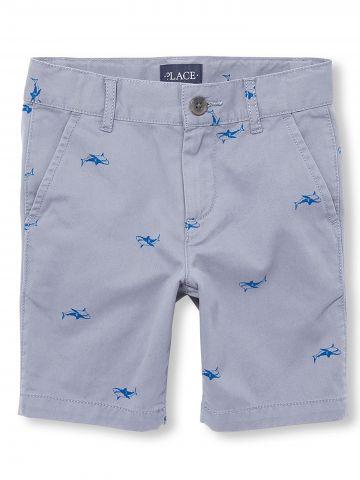 מכנסי ברמודה בהדפס כרישים