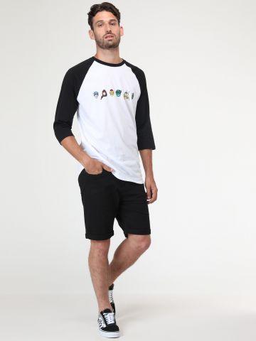 מכנסי ברמודה עם סיומת קיפולים