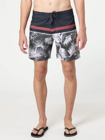 מכנסי בגד ים עם הדפס טרופי