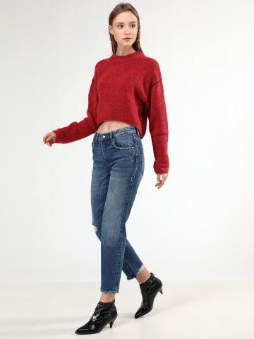 ג'ינס קרופ גזרה ישרה