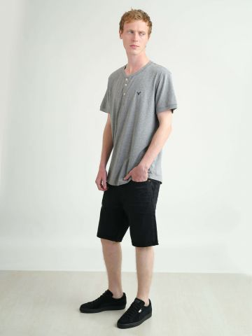 ג'ינס קצר סיומת פרומה