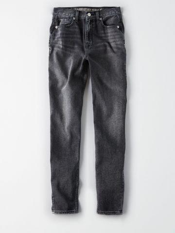 ג'ינס Mom אסיד-ווש