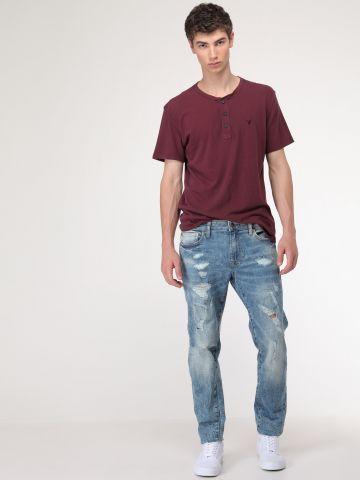 ג'ינס סקיני אסיד-ווש Ne(x)t Level Skinny Jean