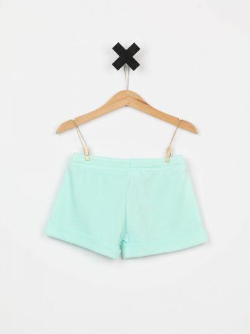מכנסי טרנינג ריב קצרים / בנות