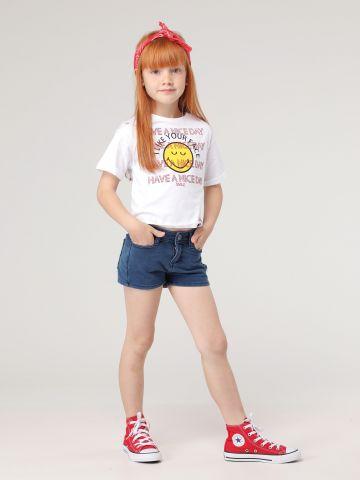 מכנסיים קצרים דמוי ג'ינס