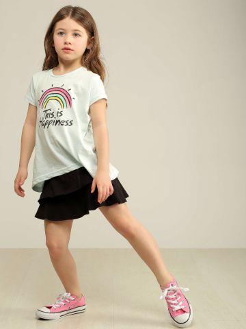 חצאית מיני פפלום עם מלמלה