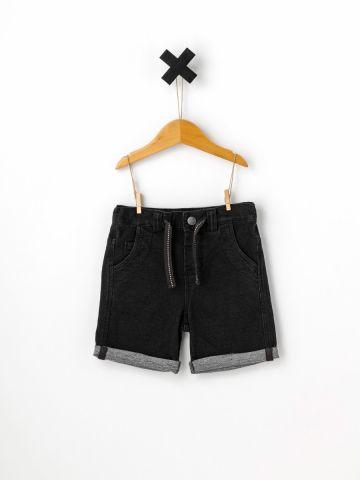 מכנסי ברמודה דמוי ג'ינס