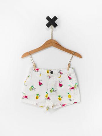 מכנסיים קצרים בהדפס פירות